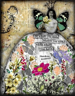 """""""Do what you can where you are with what you Have"""" Print on Wood and Print to be Framed"""