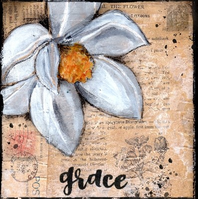 """""""Grace"""" magnolia, Print on Wood and Print to be Framed"""