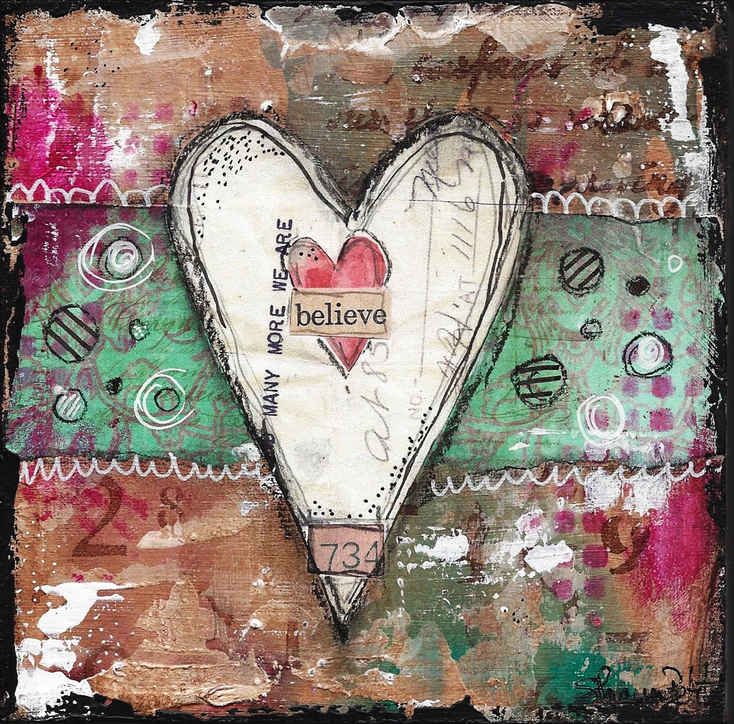 """Believe"" heart series Print on Wood and Print to be Framed"