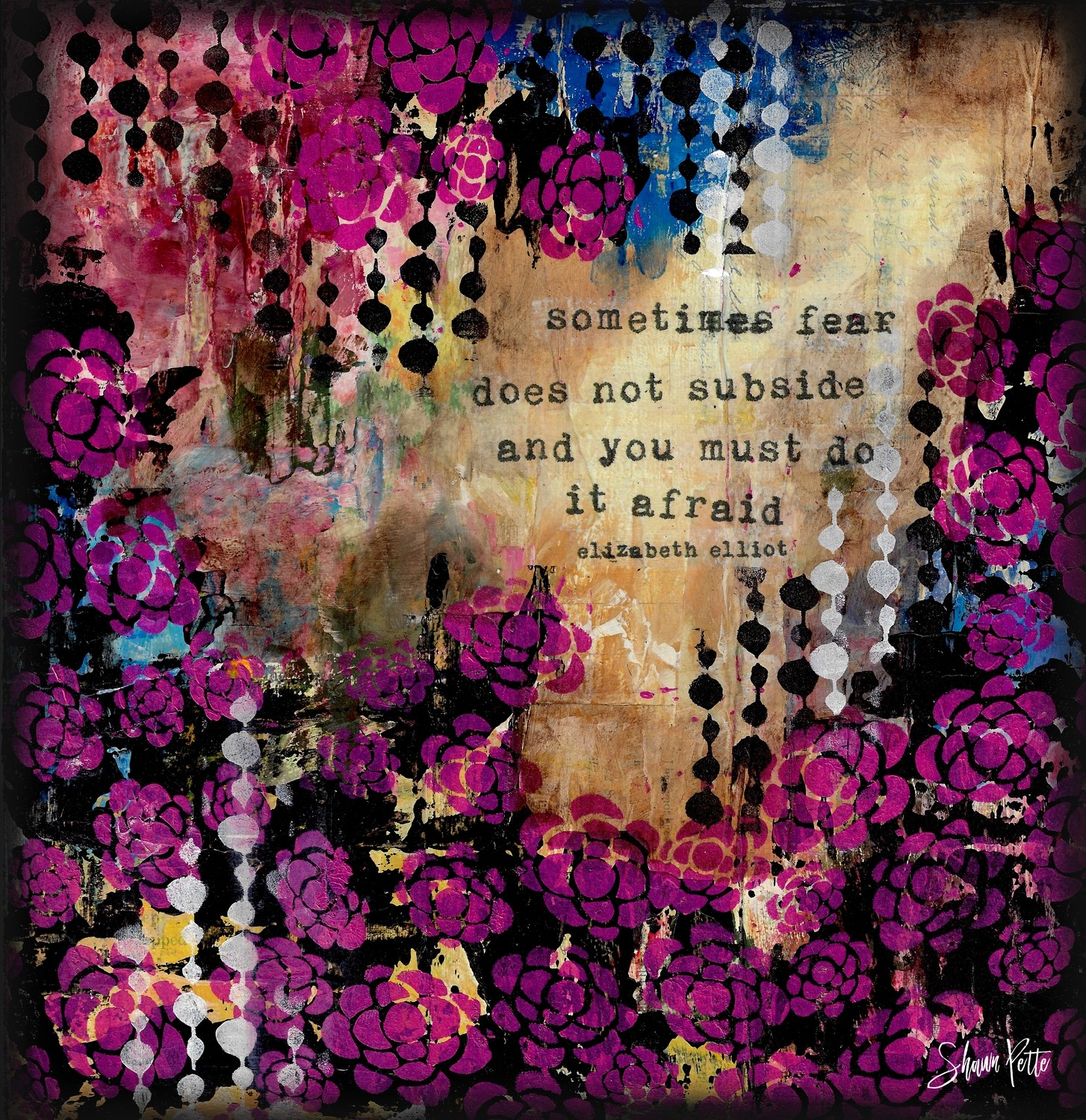 """Sometimes fear does not subside and you must do it Afraid"" Print on Wood and Print to be Framed"