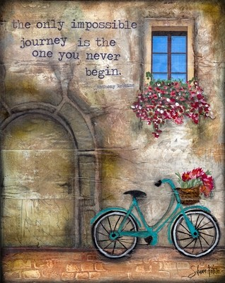 """""""The only impossible journey is the one you never Begin"""" Print on Wood and Print to be Framed"""