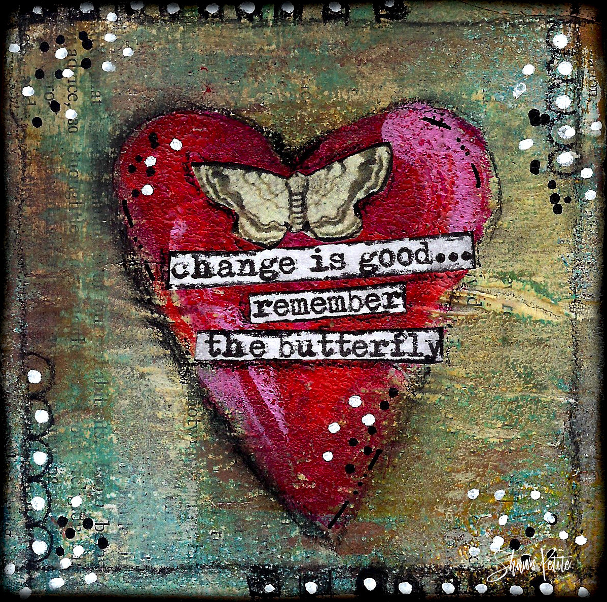"Giving hearts ""Change is good remember the Butterfly"" 4x4 clearance"