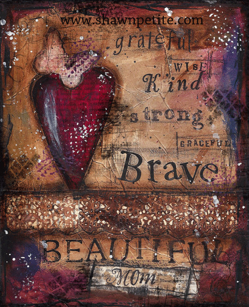 """""""Beautiful Mom"""" Print on Wood and Print to be Framed"""