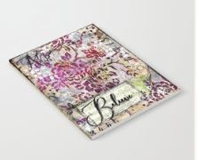 "Notebook ""Believe Vintage Floral"""
