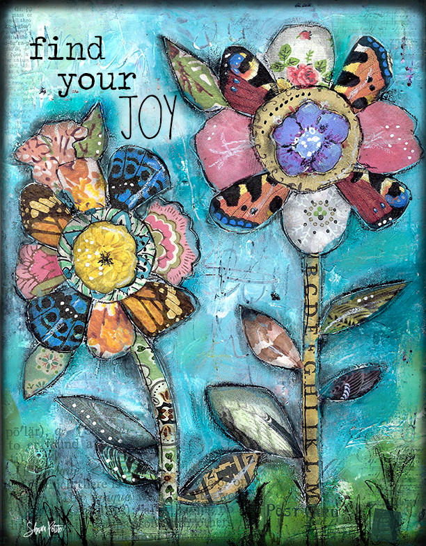 """Find your Joy"" Print on Wood and Print to be Framed"