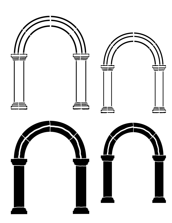 Arch 1 round 8x10 Stencil