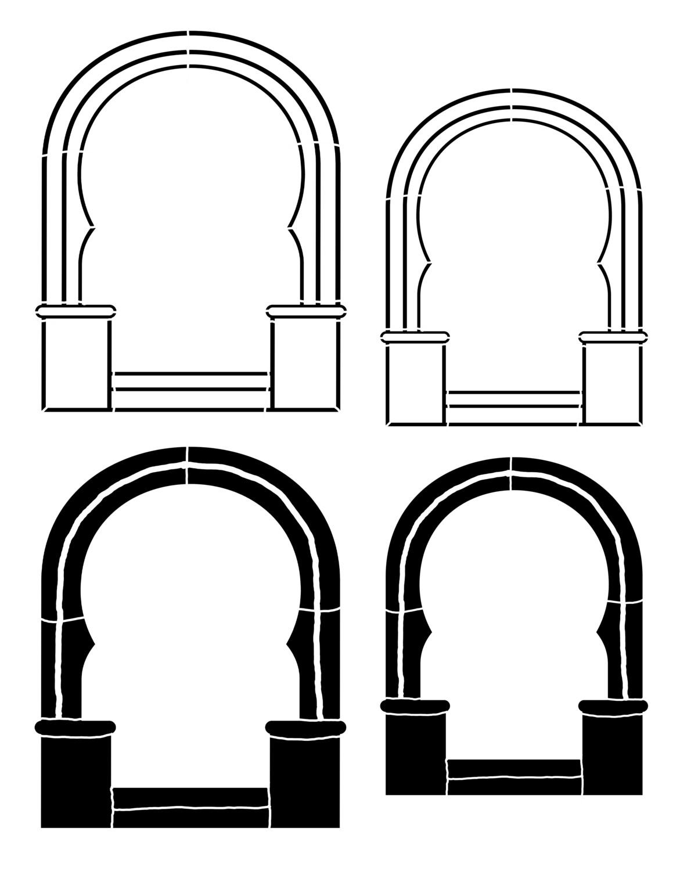 Arch 2  curvy 8x10 stencil