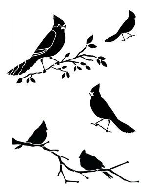 Cardinals 8x10 stencil