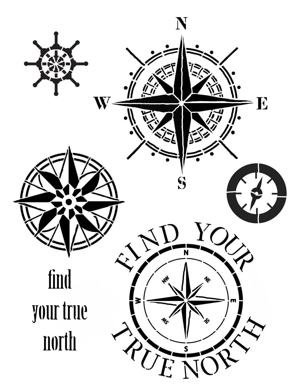 Find your true North 8x10 Stencil
