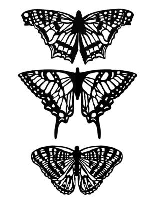 Butterflies with masks 8x10 stencil