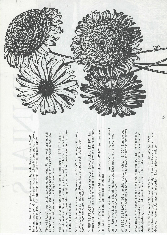 Vintage Plant Book collage pak ***PRINTED VERSION*** 12 pages