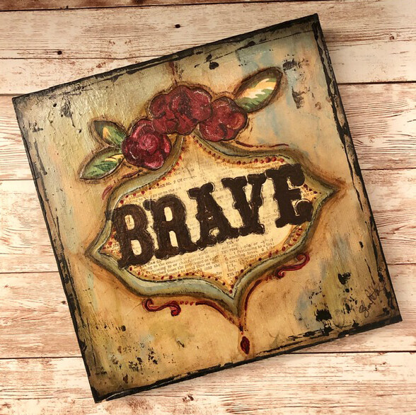 """Brave"" 8x8 Clearance Original"