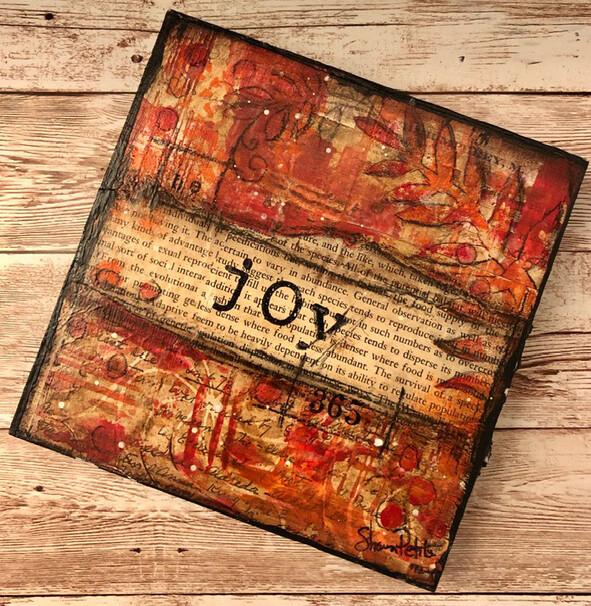 """Joy"" 6x6 Clearance Original"