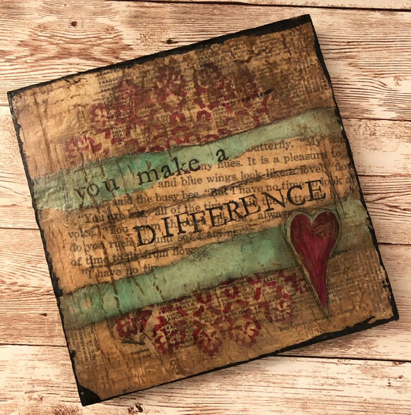 """""""You Make a Difference"""" 6x6 Clearance Original"""