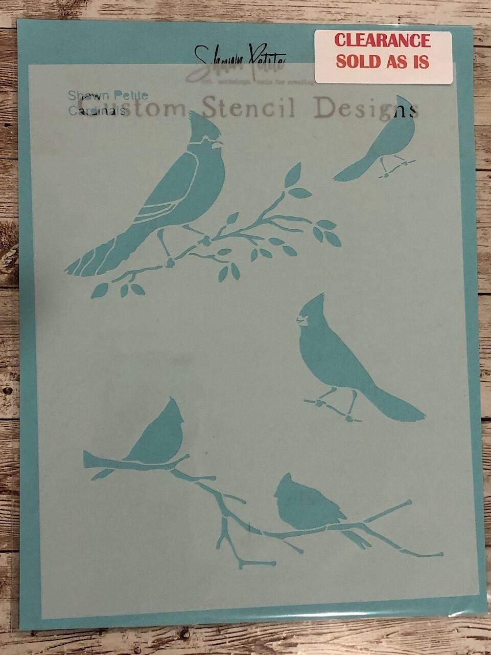 Cardinals stencil clearance