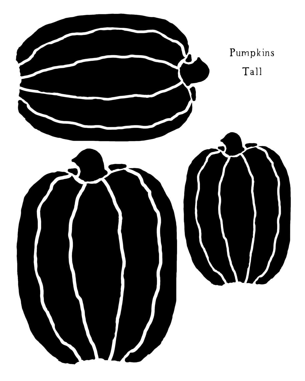 Pumpkins Tall stencil 12x16