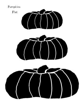 Pumpkins Flat stencil 12x16