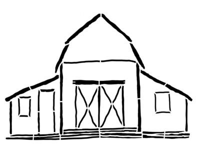 Barn large 8x10 stencil