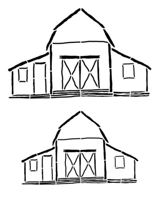 Barns smaller 8x10 stencil