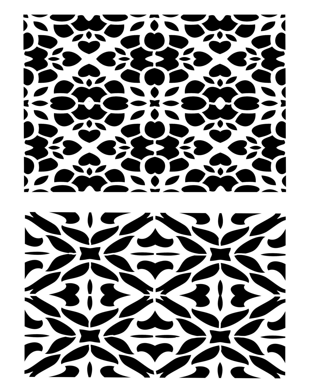 Mosaic 1 stencil 8x10