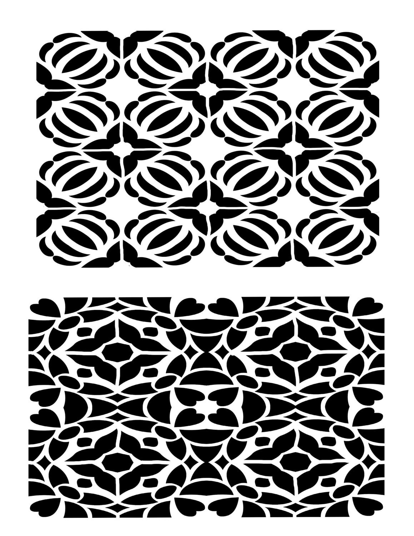 Mosaic 2 stencil 8x10