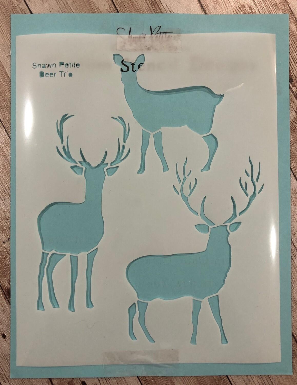 Deer Trio stencil clearance