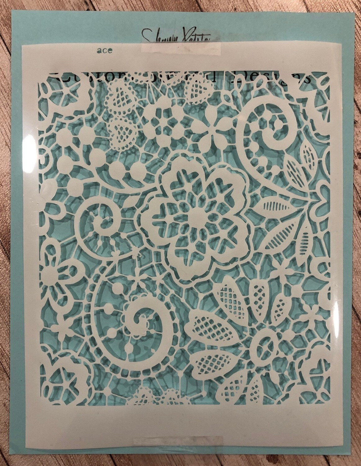Lace stencil 8x10 CLEARANCE