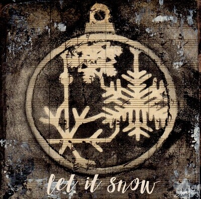 """""""Let it Snow"""" ornament, Print on Wood and Print to be Framed"""