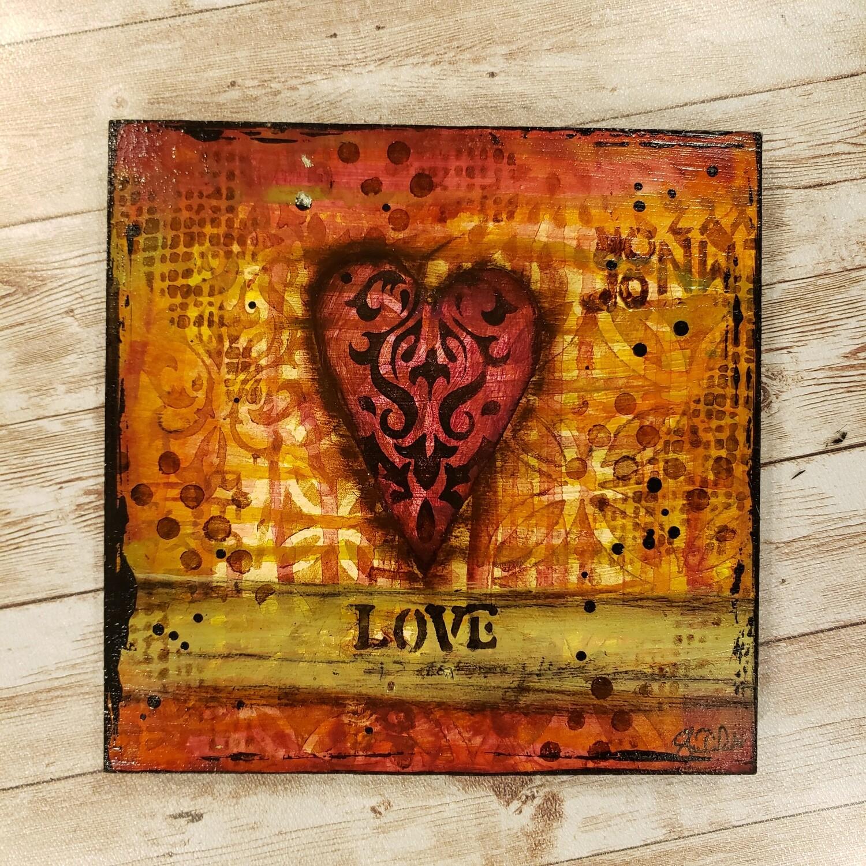 """Love"" heart 8x8 clearance original"