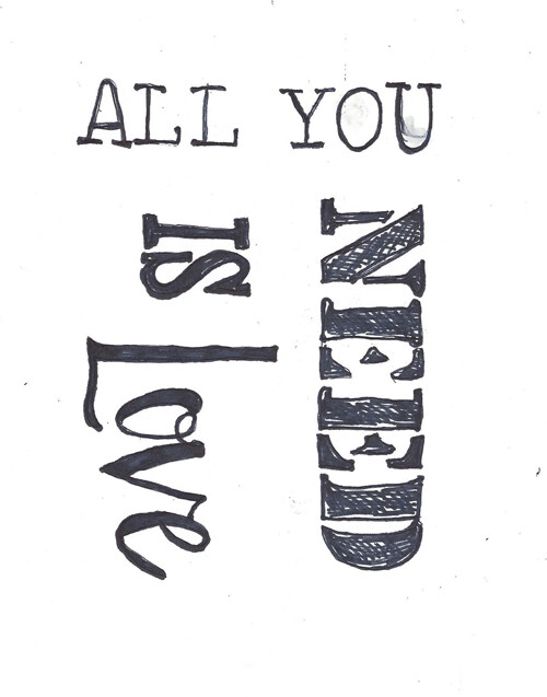 All you need is love collage pak instant download 4 pages