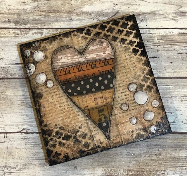 """""""Your House a Home heart"""" 6x6 Clearance Original"""