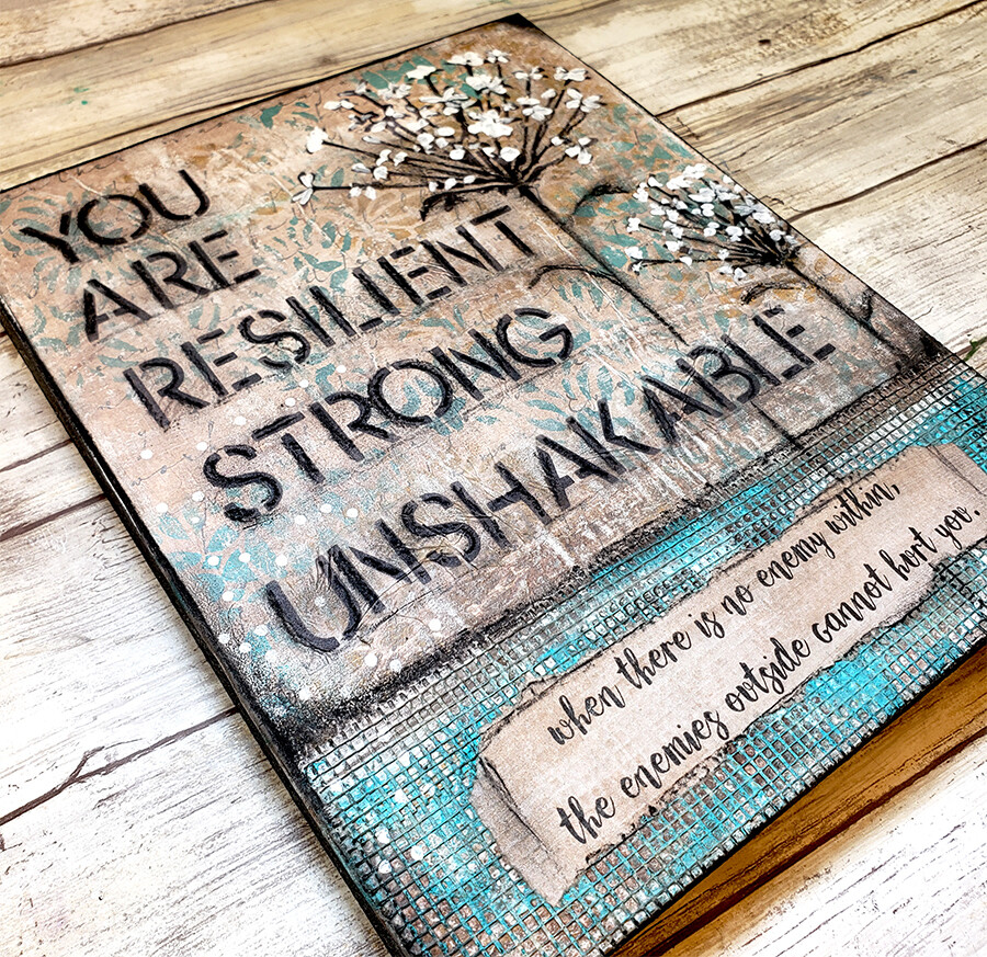 """""""You are Resilient"""" Print on Wood and Print to be Framed"""