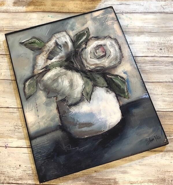 """Fresh Beginning"" 11x14 print on wood clearance"