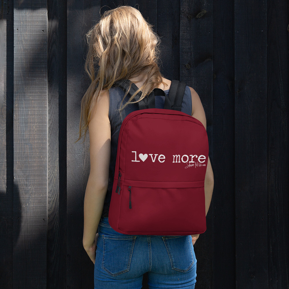 """""""Love More"""" Backpack"""
