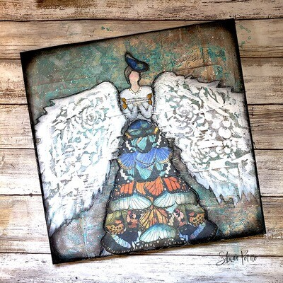 """""""Angel of Transformation"""" Print on Wood and Print to be Framed"""