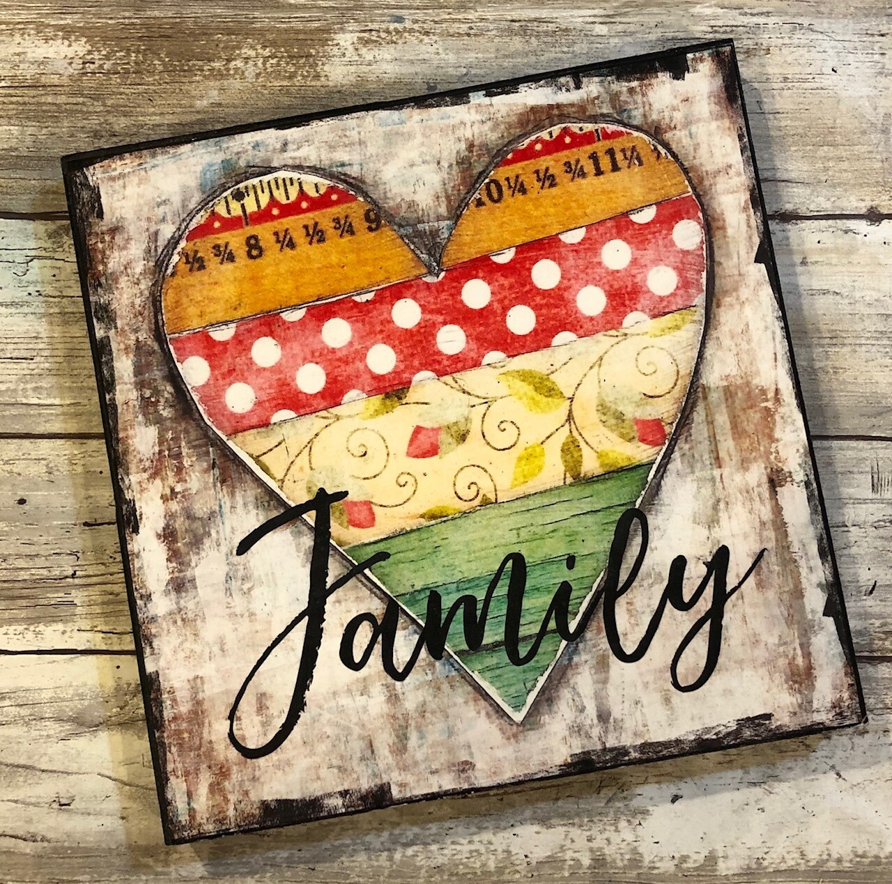 """Family"" heart 6x6 clearance"