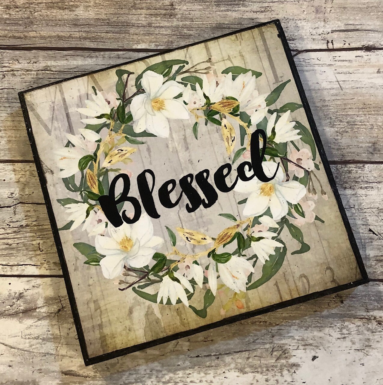 """Blessed wreath"" 6x6 clearance"