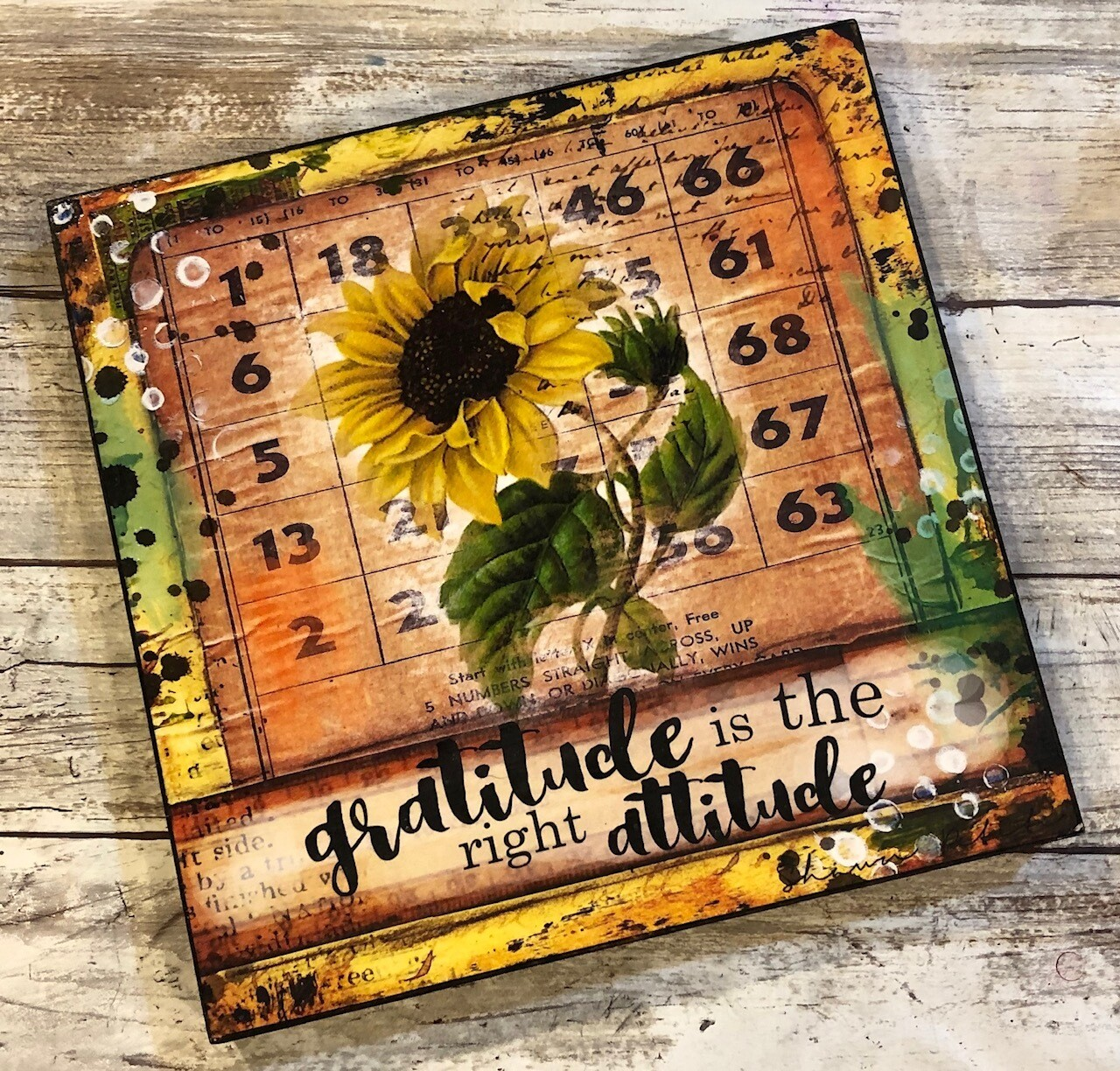 """""""Gratitude is the right attitude"""" 8x8 Clearance"""
