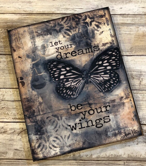 """Let your dreams be your wings"" 8x10 print on wood Clearance"