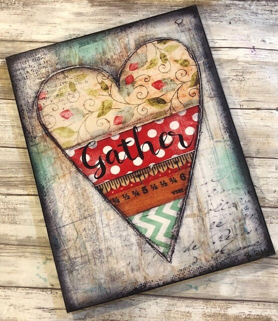 """Gather"" heart 11x14 clearance"