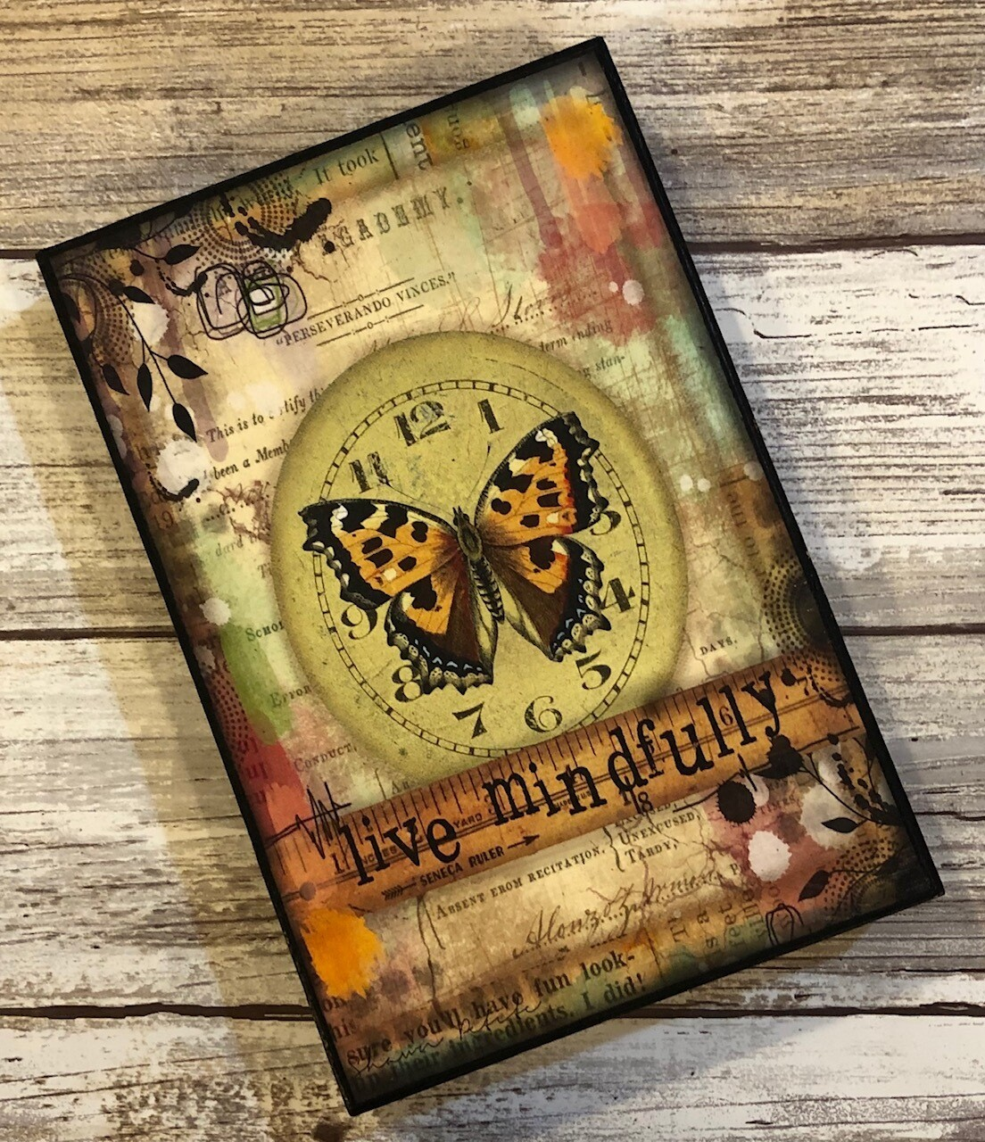 """Live Mindfully"" butterfly 4x6 Clearance"