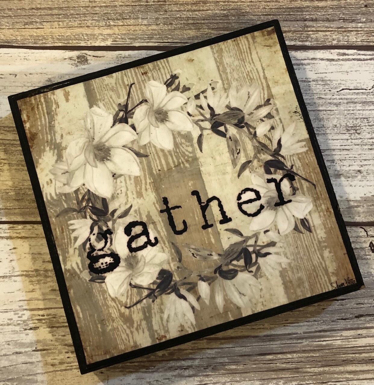 """""""Gather"""" wreath 4x4 Clearance"""