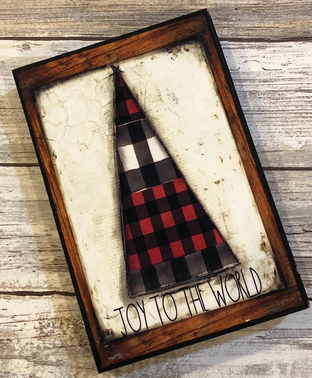 """Joy to the World"" tree 4x6 Clearance"