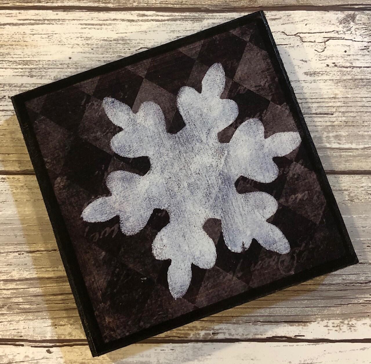 """Snowflake"" diamond 4x4 clearance"