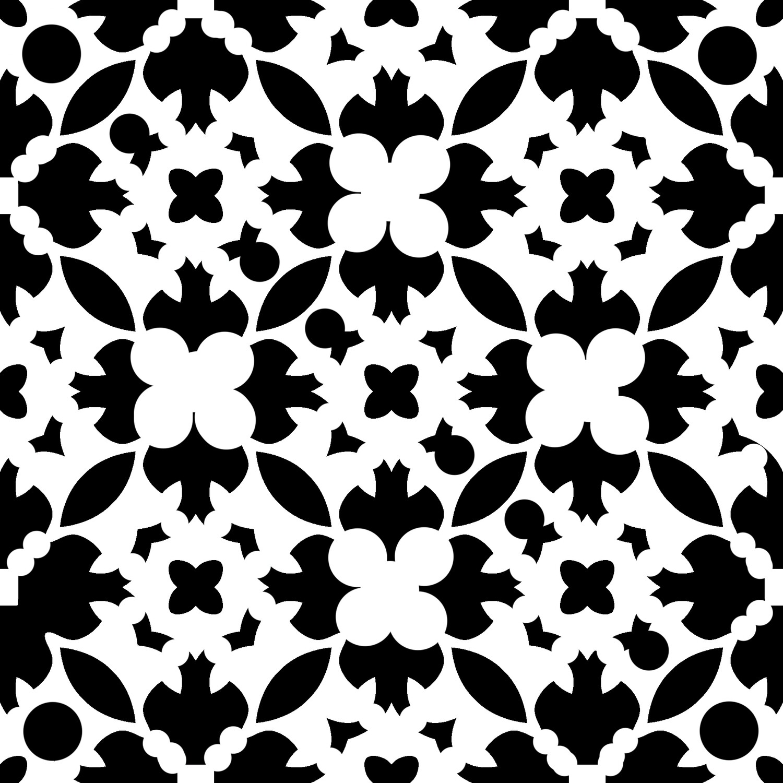 Modern Pattern 6 stencil 6x6
