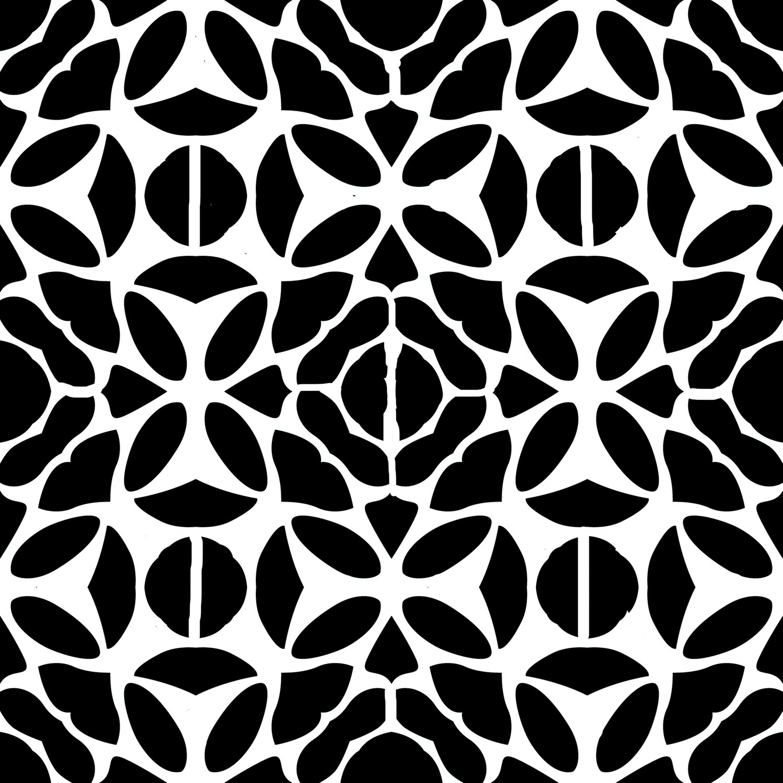 Modern Pattern 2 stencil 12x12
