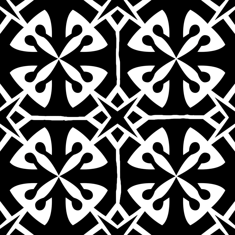 Modern Pattern 4 stencil 6x6