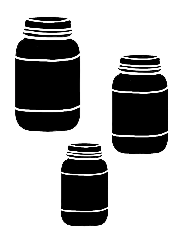 Mason Jars stencil 8x10