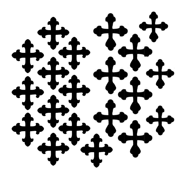 Vintage Crosses small stencil 6x6