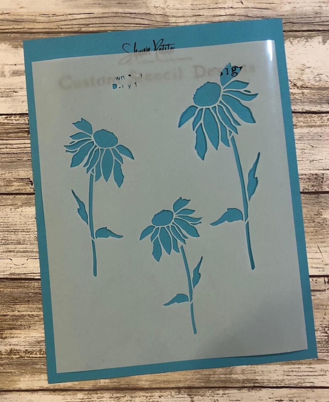 """""""Daisy 1"""" clearance stencils"""